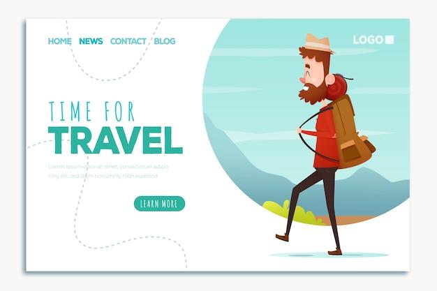 Hermosa página de inicio de viaje