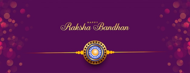 Hermosa pancarta clásica del festival indio raksha bandhan