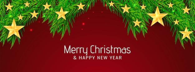 Hermosa pancarta de feliz navidad
