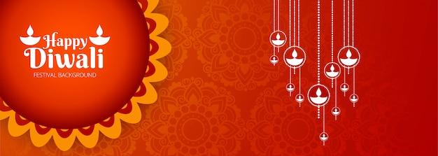 Hermosa pancarta del festival diwali