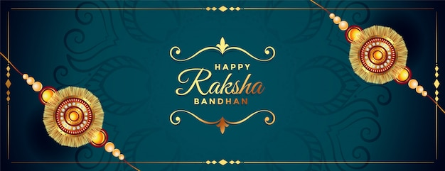 Hermosa pancarta rakhi para feliz raksha bandhan