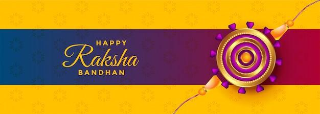 Hermosa pancarta rakhi para raksha bandhan