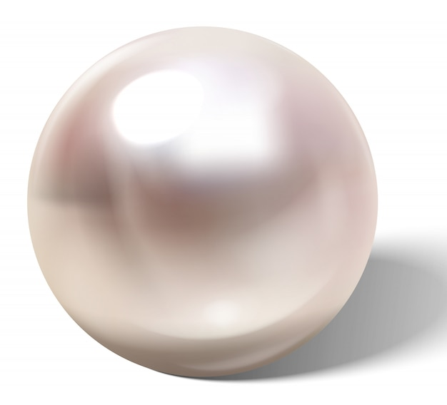 Hermosa perla realista.