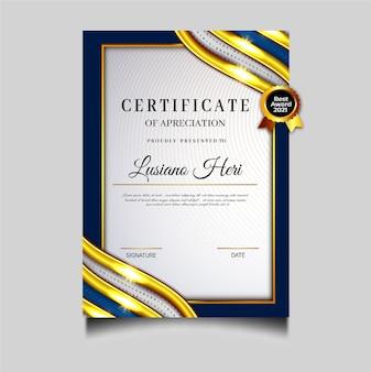 Hermosa plantilla de archivo de certificado de diploma
