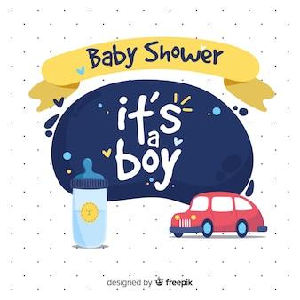 Hermosa plantilla de baby shower para niño