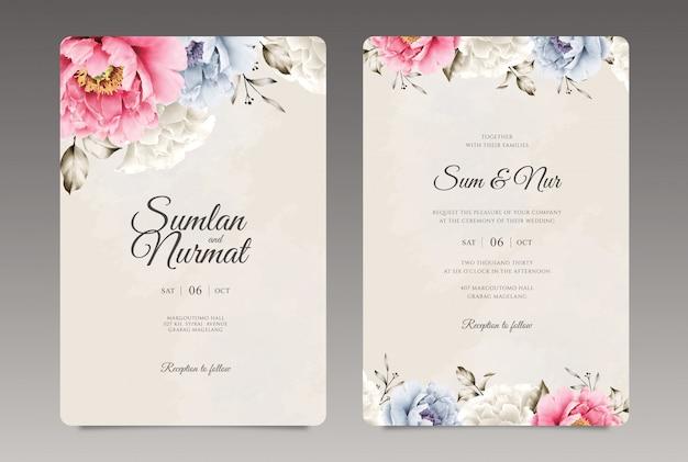 Hermosa plantilla de invitación de boda