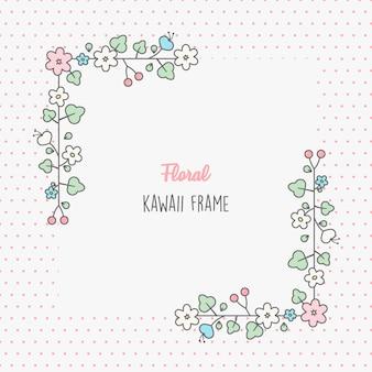 Hermosa plantilla de marco floral