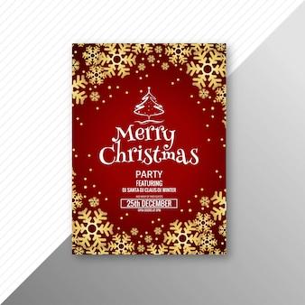 Hermosa plantilla de tarjeta de felicitación de feliz navidad