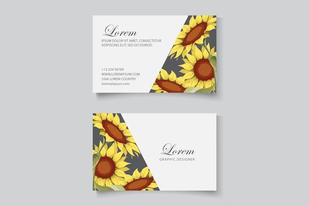 Hermosa plantilla de tarjeta de visita floral