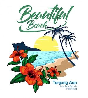 Hermosa playa en indonesia