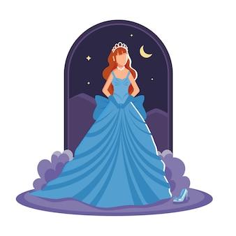 Hermosa princesa cenicienta
