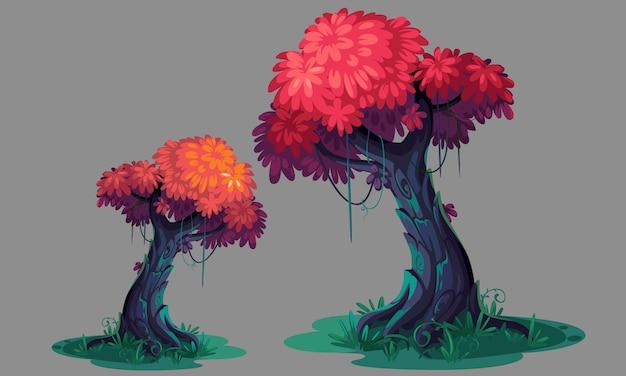 Hermosa rosa deja arte conceptual del árbol