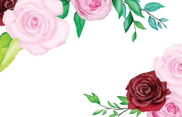 Hermosa tarjeta de boda con acuarela