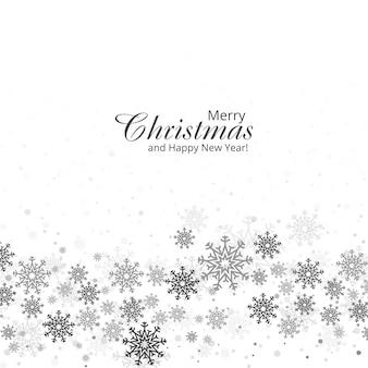 Hermosa tarjeta de copos de nieve de navidad