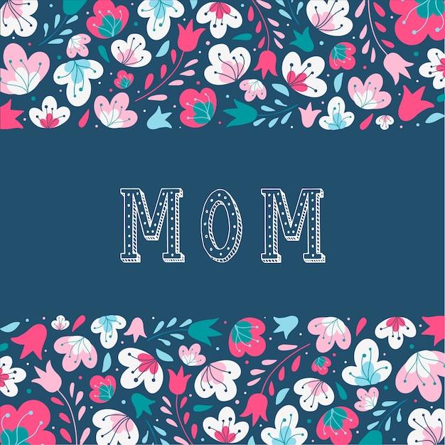 Hermosa tarjeta para el día de la madre.