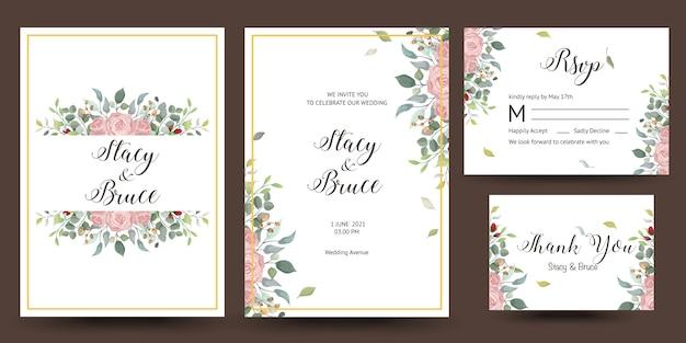 Hermosa tarjeta de felicitación decorativa o invitación con diseño floral