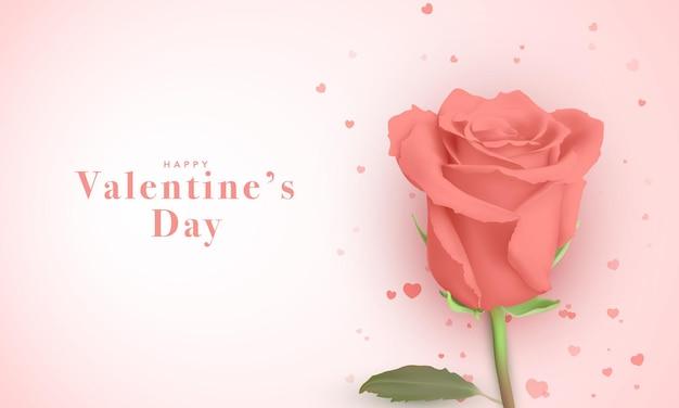 Hermosa tarjeta de felicitación para el día de san valentín