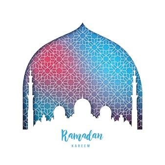 Hermosa tarjeta de felicitación de ramadan kareem.