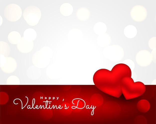 Hermosa tarjeta de felicitación realista del día de san valentín desea fondo