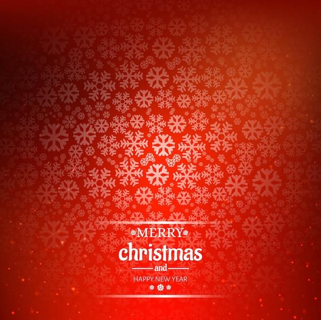 Hermosa tarjeta de feliz navidad con fondo de copo de nieve