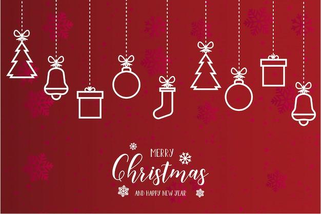 Hermosa tarjeta de feliz navidad moderna