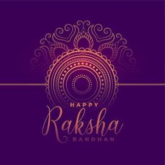 Hermosa tarjeta de festival feliz raksha bandhan tradicional