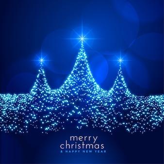 Hermosa tarjeta de festival de navidad con tarjeta sparkle