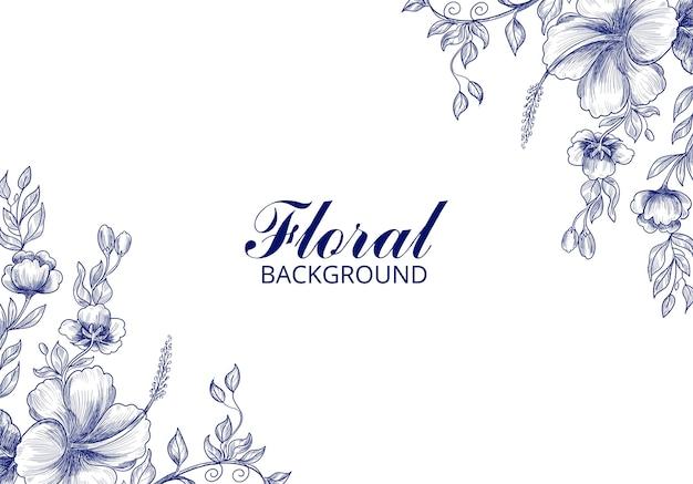 Hermosa tarjeta floral de boda