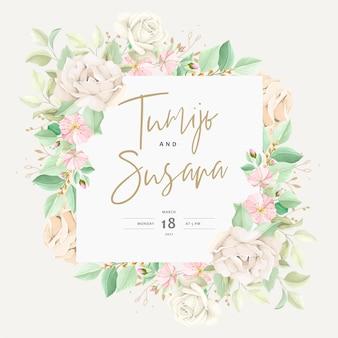 Hermosa tarjeta de invitación de boda