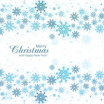 Hermosa tarjeta de navidad copo de nieve