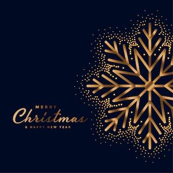Hermosa tarjeta de oro feliz festival de navidad