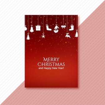 Hermosa tarjeta de plantilla de vacaciones de navidad