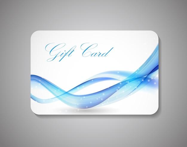 Hermosa tarjeta de regalo. ilustración vectorial