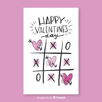Hermosa tarjeta de san valentín feliz