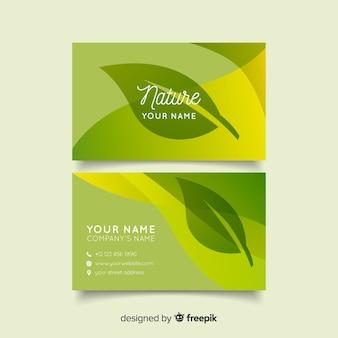 Hermosa tarjeta de visita con concepto de naturaleza