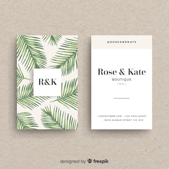 Hermosa tarjeta de visita con diseño de naturaleza