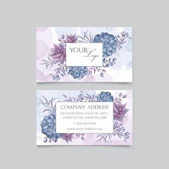 Hermosa tarjeta de visita floral