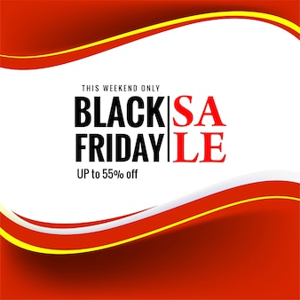 Hermosa venta de viernes negro para banner de onda roja