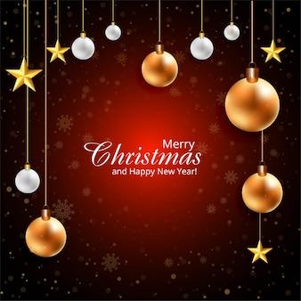 Hermosas bolas feliz navidad festival