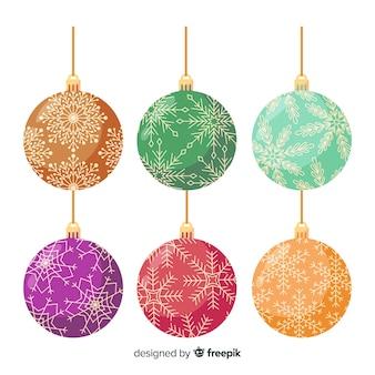 Hermosas bolas de navidad estilo vintage
