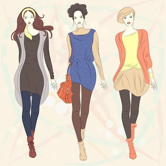Hermosas chicas top modelos de moda