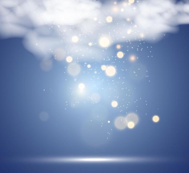 Hermosas chispas brillan con luz especial vector brilla sobre un fondo transparente navidad ab