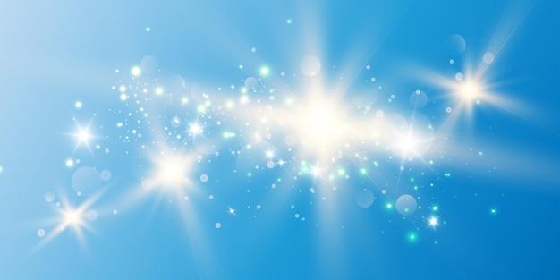 Hermosas chispas brillan con una luz especial