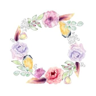 Hermosas coronas florales de primavera.