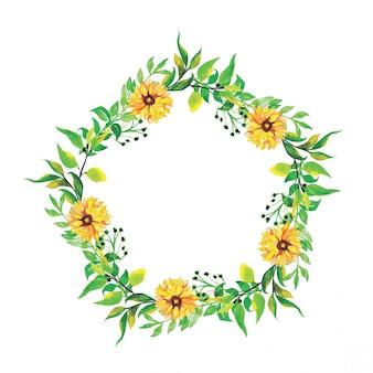 Hermosas flores circulares