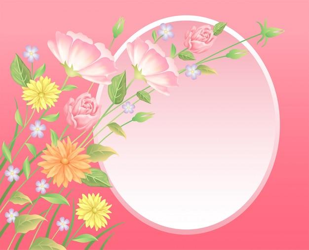 Hermosas flores y decoración de hojas buen uso para el evento de san valentín o el día de la boda