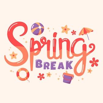 Hermosas letras de vacaciones de primavera