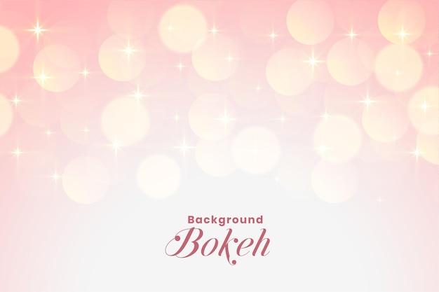 Hermosas luces de bokeh rosa suave