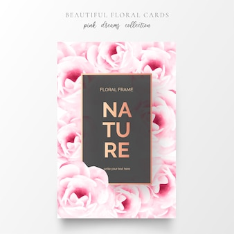 Hermosas tarjetas florales con flores preciosas