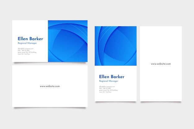 Hermosas tarjetas de visita de diseño degradado